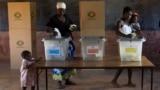 Zimbabweans vote at the Sherwood Primary School in Kwekwe, Zimbabwe, Monday July 30, 2018.
