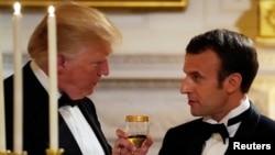 美国总统川普与法国总统马克龙