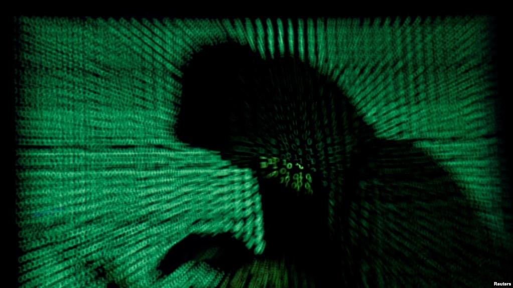 黑客攻击电脑网络系统示意图(路透社)