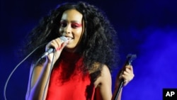 Solange performs during FYF Fest at L.A. Memorial Sports Arena & Exposition Park on Aug. 23, 2015, in Los Angeles.