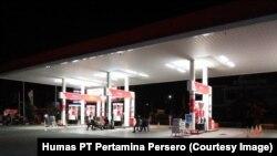 SPBU Pertamina 74.942.05 di Jalan Diponegoro, Kota Palu, yang mulai beroperasi normal dan buka 24 jam, 9 Oktober 2018. (Foto: Humas PT Pertamina)