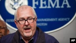 FEMA Administrator Craig Fugate speaks in Washington in support of legislation, being considered by some Republicans in Congress, that would prevent a partial shutdown of the Department of Homeland Security, Feb. 26, 2015.