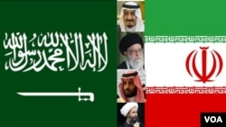 Iran and Saudi flags
