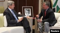 Госсекретарь США Джон Керри и король Иордании Абдалла. Амман, Иордания. 27 июня 2013 г.