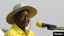 Le président ougandais Yoweri Museveni, 11 février 2016.
