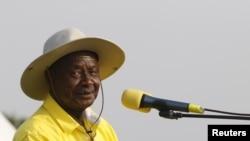 Le président ougandais Yoweri Museveni dans la capitale à Kampala, le 11 février 2016.