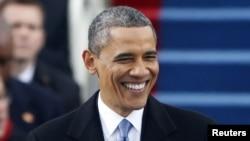 Barak Obama prezidentlik uchun ikkinchi bor qasamyod keltirdi