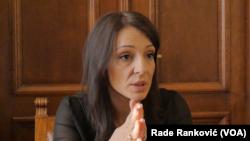 Poslanica Stranke slobode i pravde Marinika Tepić, Foto: VOA