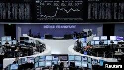 14일 독일 프랑크푸르트 증권 거래소. (자료사진)