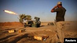 Lực lượng an ninh Iraq, các dân quân Shia và chiến binh người Kurd tham gia chiến dịch chống Nhà nước Hồi giáo với sự yểm trợ của không lực Iraq.