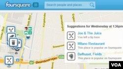 El mapa de la página principal nos indicará recomendaciones a nuestro alrededor según la hora del día.
