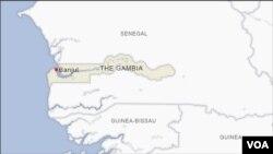 Ramani ya nchi ya Gambia