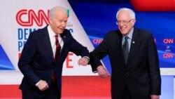 Joe Biden နဲ႔ Bernie Sanders ႐ုပ္သံေပၚမွာ စကားစစ္ထိုးမည္