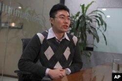 加拿大公民谢伦伯格的辩护律师张冬硕2019年1月15日在北京接受采访。