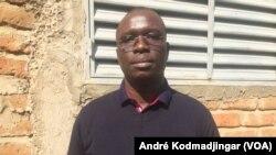 Nasra Djimasngar, secrétaire national du parti Un Nouveau Jour à N'Djamena, le 18 juin 2019. (VOA/André Kodmadjingar)