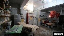 عکس تزئینی: اتاق بیمارستانی متروکه در حلب که هدف بمباران قرار گرفته است