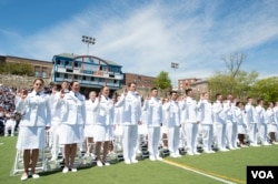 The U.S. Coast Guard Academy Class of 2016 graduates and receives their commissions as officers during their commencement ceremony May 18, 2016. (Petty Officer 2nd Class Cory J. Mendenhall/U.S. Coast Guard)