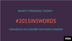 #2015in5words