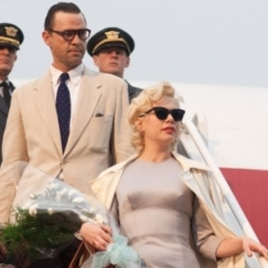 "Michelle Williams shines as Marilyn Monroe in ""My Week with Marilyn."""