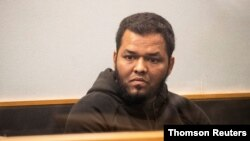 Mohamed Samsudeen, accused of carrying out an attack at an Auckland mall before being killed by law enforcement, appears in the High Court in Auckland, New Zealand, in this undated handout photo released to Reuters on Sept. 5, 2021.