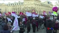 世界各國民眾抗議針對婦女和女孩的暴行 (粵語)