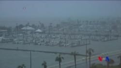 哈威颶風的強度增加到4級風暴