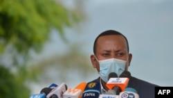 Ethiopia's Prime Minister Abiy Ahmed speaks in Hawassa, Ethiopia, June 5, 2020.