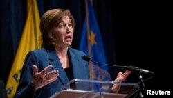 Bác sĩ Nancy Messonnier, Giám đốc Trung tâm Miễn nhiễm và các Bệnh đường hô hấp thuộc CDC tại cuộc họp báo về virus corona ở Washington, ngày 28/1/2020.