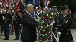 Trump Lays Wreath at Arlington Cemetery