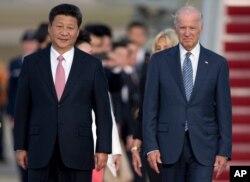 Ông Tập Cận Bình và ông Joe Biden, tháng 9/2015.
