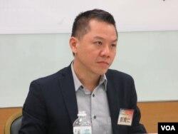 台湾国策研究院执行长郭育仁(美国之音张永泰拍摄)