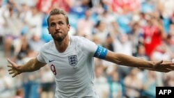 Harry Kane lors de son 2e but contre le Panama, le 24 juin 2018