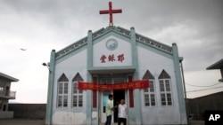 2014年7月15日浙江省温州龙湾教会成员在耶稣堂留影