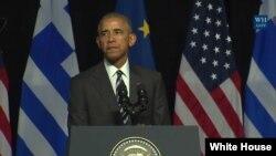Američki predsednik Barak Obama održavo je govor o demokratiji u kolevci demokratije, Atini u Grčkoj, 16. novembar 2016.