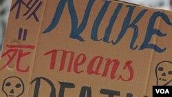 Las protestas contra las plantas nucleares se han realizado en diferentes partes del mundo tras el accidente de Fukushima.