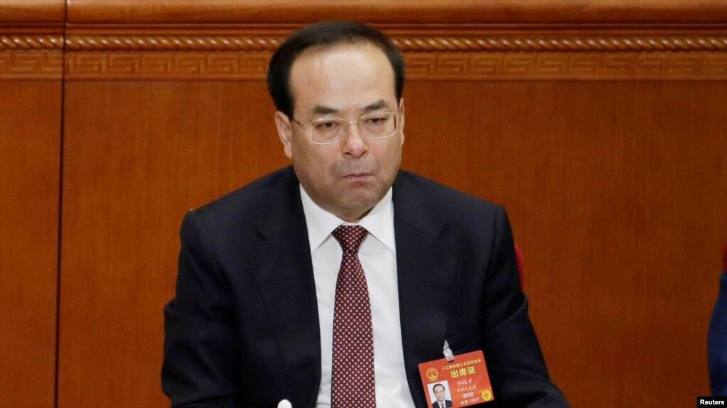 孫政才2017年3月5日出席全國人大會議(路透社)