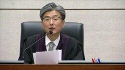 2018-04-06 美國之音視頻新聞: 南韓法院判處前總統朴槿惠24年監禁