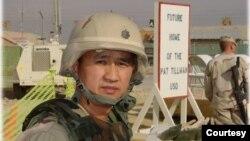 Trung tá Nguyễn Anh Tuấn vào thời điểm đóng quân ở Kabul. (Hình: Nguyễn Anh Tuấn cung cấp)
