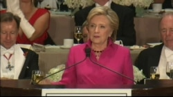 Clinton Joke About Trump Rating Statue of Liberty at Alfred Smith Charity Dinner