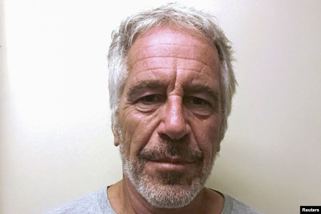 FILE PHOTO: U.S. financier Jeffrey Epstein appears in a photograph taken for the New York State Division of Criminal Justice Services' sex offender registry March 28, 2017 and obtained by Reuters July 10, 2019.