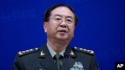 Fang Fenghui, général Fang Fenghui, chef d'état-major de l'Armée populaire de libération (APL). (AP Photo/Andy Wong, Pool)
