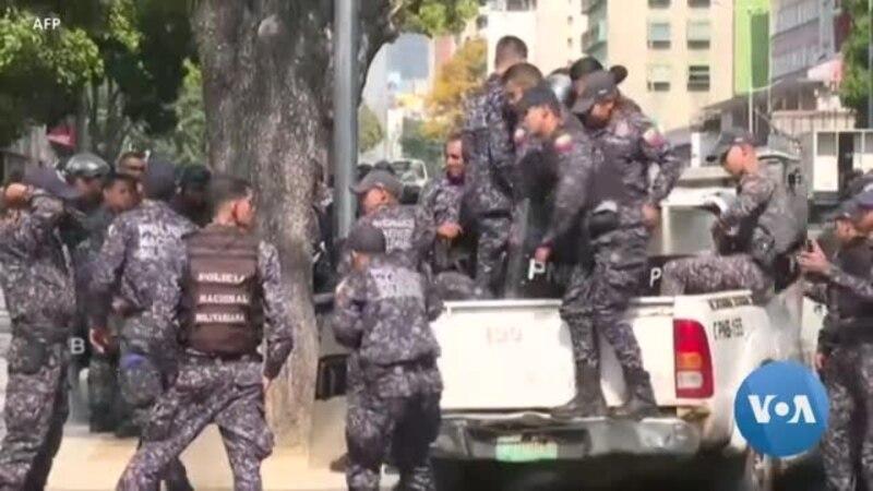 Forte présence policière à Caracas avant une manifestation