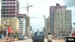 In the last few years, Downtown Sihanoukville has seen increasing construction of skyscrapers, casinos, and Chinese-own businesses, Preah Sihanouk province, Cambodia, May 17, 2020. (Khan Sokummono/VOA Khmer)
