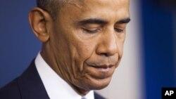 Obama habló en la Oficina del Director de Inteligencia Nacional con motivo de su décimo aniversario.