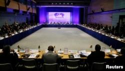 8月4日,来自非洲各国的代表在华盛顿参加美菲领导人峰会
