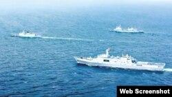 """Theo báo chí Việt Nam, đây là một hình ảnh về Biển Đông trong bộ phim """"Điệp vụ Biển Đỏ""""."""