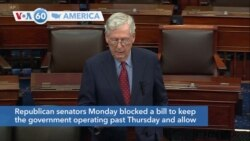 VOA60 Ameerikaa - US Senate Fails to Pass Government Funding, Debt Ceiling Measures