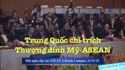 Trung Quốc chỉ trích Thượng đỉnh Mỹ-ASEAN