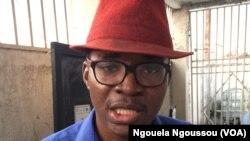 Franck Nzila, coordonnateur de Ras-le-Bol à Brazzaville, Congo. (VOA/Ngouela Ngoussou)