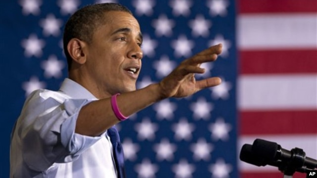 President Barack Obama speaks at a campaign event at Cornell College, in Mt. Vernon, Iowa, October 17, 2012.